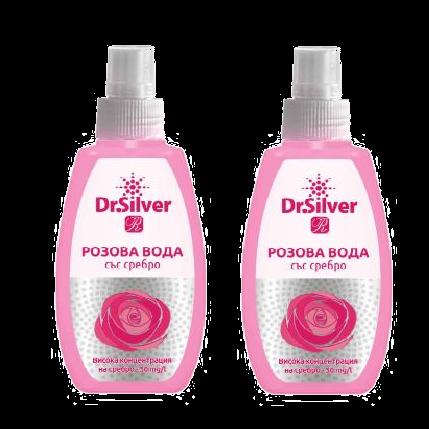 Розова вода със сребро - 2 опаковкик